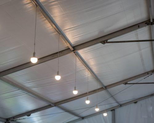 Owietlenie hali namiotowej
